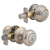 Kwikset Juno J15SMTCP Single Cylinder Deadbolt Knob Lockset