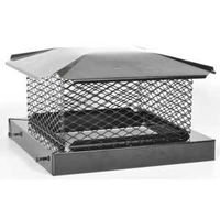 BM0378 8INX12IN BLACK CHIMNEY