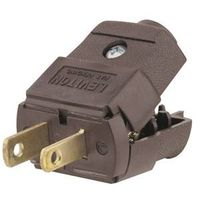 Leviton C20-00101-00P Light Duty Polarized Electrical Plug
