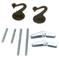 HOOKS CEILING ANTIQUE BRS 2CD