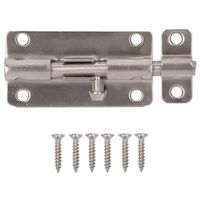 BARREL BOLT LOCKABLE 4IN SS