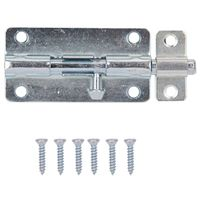 BARREL BOLT LOCKABLE 4IN ZINC