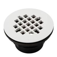 DRAIN SHOWER ABS BLK/WHT 2IN