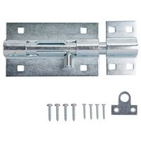 BARREL BOLT LOCK HD 6IN ZINC