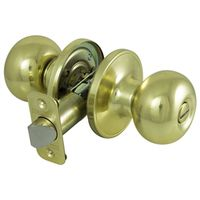 KNOB PRIVACY BALL POL BRASS VP