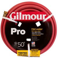 Gilmour 18 Reinforced Garden Hose With Full-Flo Brass Couplings