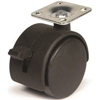 DH Casters C-T20P1BKB Swivel Twin Wheel Furniture Caster