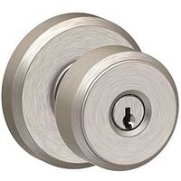 KNOB KEYED BOWERY SATIN NICKEL