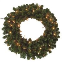 WREATH PINE CANADIAN LIT 30IN