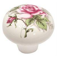 Mintcraft C103WGF35 Round Mushroom Floral Cabinet Knob