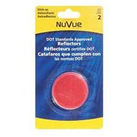 REFLECTOR LT RND 3IN RED 2/PK