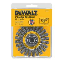 WHEEL BRSH CBL TWIST WIRE 4IN
