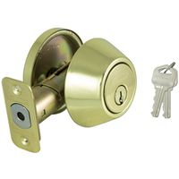 DEADBOLT SINGLE CYL PB KA3 VP