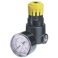 Tru-Flate 24-444 Mini Air Line Regulator with Pressure Gauge