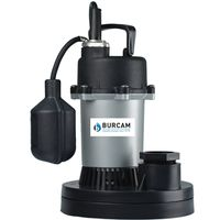 Burcam 300500 Submersible Sump Pump With Mechanical Float Switch