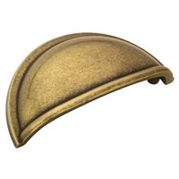 PULL CUP BURNISHED BRASS 3IN