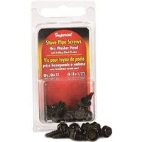 SCREWS HEX STOVE PIPE BLK ZNC