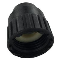 PEX CAP BLACK 1/2IN