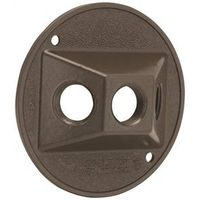 Bell Raco 5197-7 3-Hole Cluster Round Weatherproof Cover