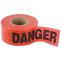 TAPE DANGER 2MIL 3INX1000FT