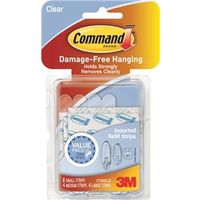 Command 17200CLR Assorted Refill Strip