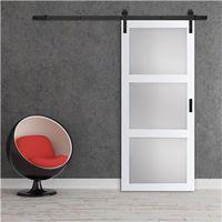 DOOR BARN 3-LIGHT WHITE FINISH