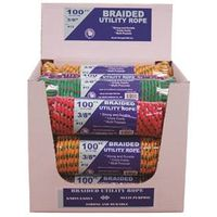 TW Evans Cordage 99022 Braided Assortment Utility Rope Display