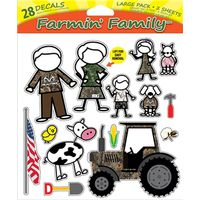 DECAL FARMIN FAMILY 28PC