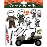 DECAL WINDOW FAMILY CAMO 28PC