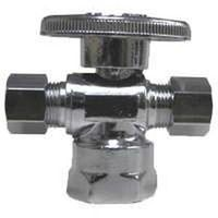 Watts LF PBQT-118 1/4 Turn 3-Way Angle Stop Valve
