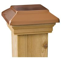 Marine Ornamental 72295 Plateau Post Cap with Cedar Wood Base