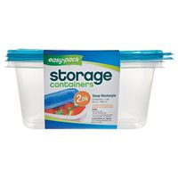 FOOD CONT STORRECTANGLE 2PK