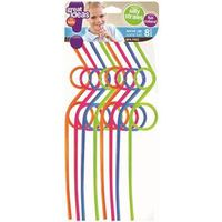 STRAWS SILLY ASST COLORS 8 PK