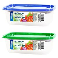 FOOD STORAGE/LID RECT 2PK