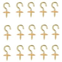 CUP HOOK SOLID BRASS 1/2IN