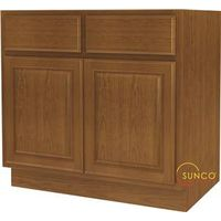 Randolph SB36RT-B Double Door Sink Base Cabinet