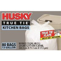 Husky HK13WC080W One-By-One Dispensing Kitchen Trash Bag