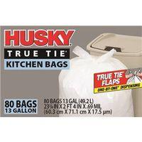 Husky HK13WC080W One-By-One Dispensing Kitchen Trash Bag