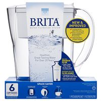 Brita 635670 Space Saver Water Filter Pitcher