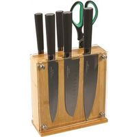 KNIFE BLOCK SET 7PC TITANIUM
