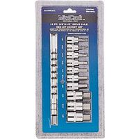 SOCKET SET 10PC 1/2DR HEX SAE