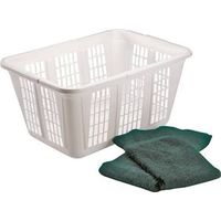 Rubbermaid FG296585WHT Laundry Basket
