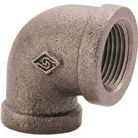 World Wide Sourcing 2A-3/8B Black Pipe 90 Deg Elbow