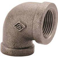 World Wide Sourcing 2A-3/8B Black Pipe 90 Deg Elbow
