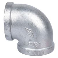 Worldwide Sourcing 2A-2G Galvanized Pipe 90 Degree Elbow