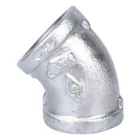World Wide Sourcing 4-1G Galvanized 45 Deg Elbow