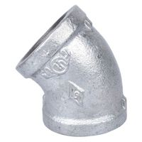 World Wide Sourcing 4-1-1/4G Galvanized 45 Deg Elbow