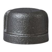 Worldwide Sourcing 18-3/4B Black Pipe Cap
