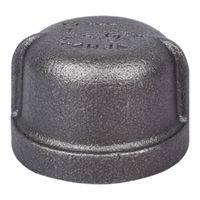 World Wide Sourcing 18-1B Black Pipe Malleable Cap