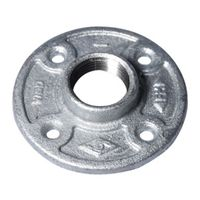 Worldwide Sourcing 27-1G Galvanized Pipe Malleable Floor Flange